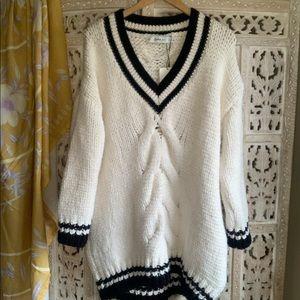 Zara Oversized Chunky Varsity Sweater